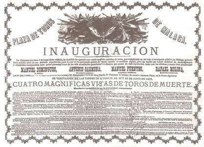 1876-06-11 Malaga Corrida inauguracion 001
