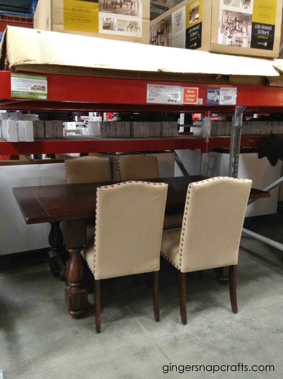 dining room furniture at Sam's Club