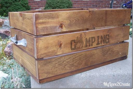 diy camping crate