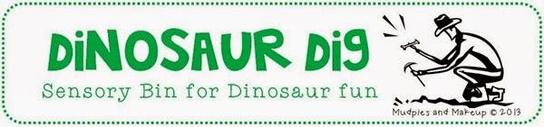 Dinosaur Dig Dinosaur Sensory Bin