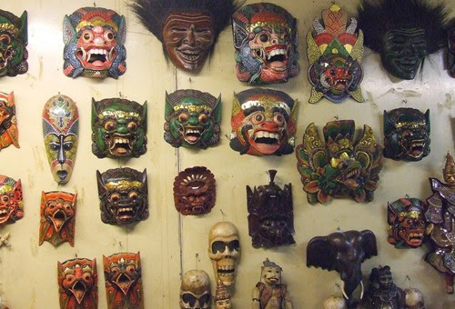Masks in a shop on the Pier-2