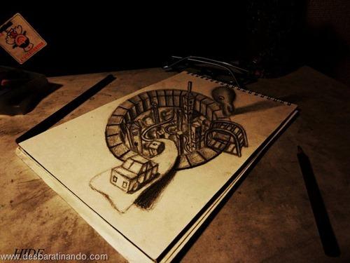 desenhos lapis 3D desbaratinando  (2)