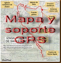 Mapa y soporte GPS - Ruta Peña Izaga - Castro de Santa Ágata
