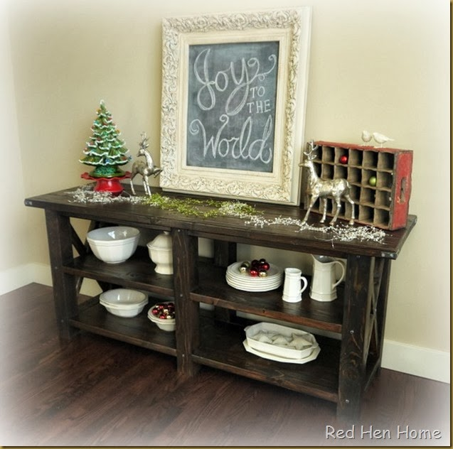 Red Hen Home Grand Rustic X Buffet 4