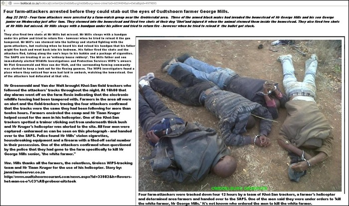 Mills George OUDTSHOORN FARM ATTACKERS PIC Aug 13 2012