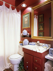 Asian Inspired Bathroom Decorating – Red Bathroom Decor