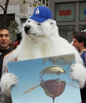 DANimal, DANimal, he's our man, if he can't do it, a polar bear can!