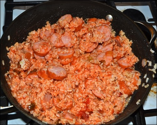 sausage salsa and rice