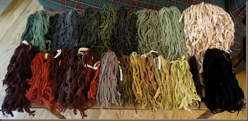 Wool strips