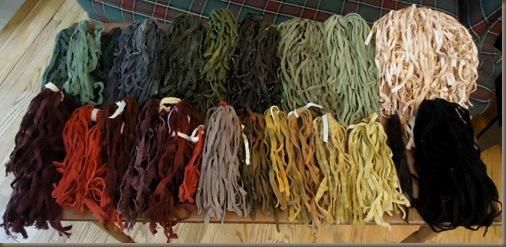 Wool strips