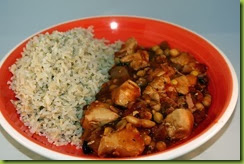 Cowboy bbq chicken stew