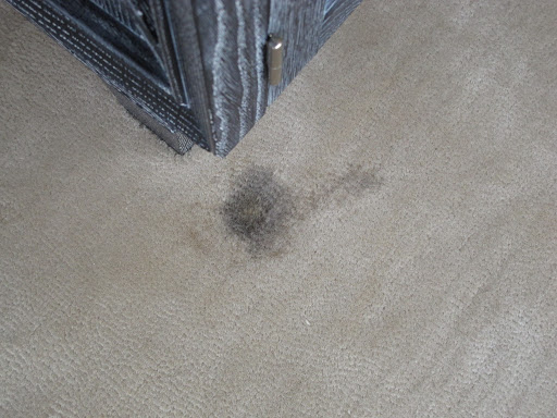 Remember this stain on my bedroom carpet?