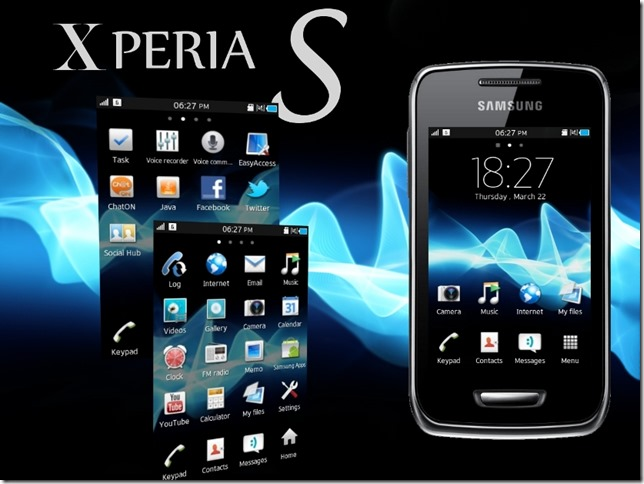 xperia theme samsung wave