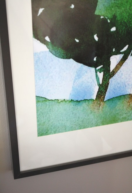 framed watercolor print