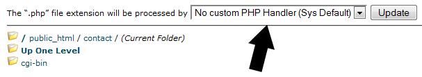 custom php handler