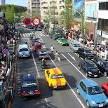 traffic in Harajuku in Harajuku, Tokyo, Japan