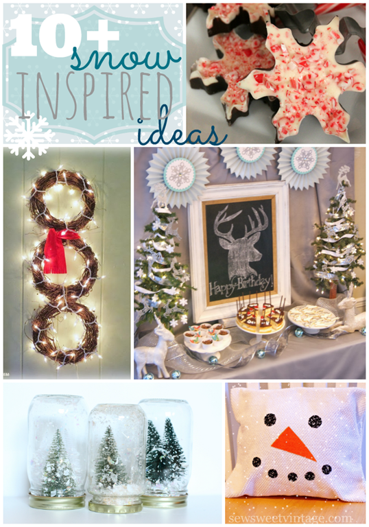 Over 10 Snow Inspired Ideas at GingerSnapCrafts.com #linkparty #features #snow #gingersnapcrafts