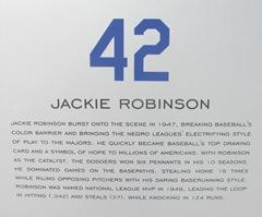 Florida 2013 retired 42 Robinson placque