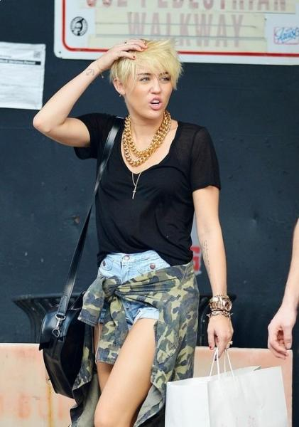 Miley Cyrus New Short Hairstyles 2013