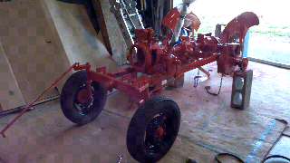 power king economy tractor restoration front wheels i also got the engine installed and painted i installed a drive belt for the alternator that is too short that means now i have to pull the engine clutch