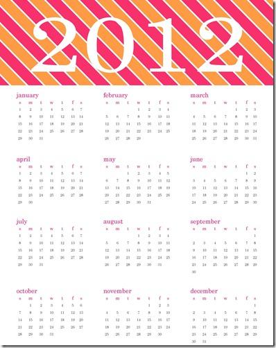 2012 Calendar Printable5 SJB
