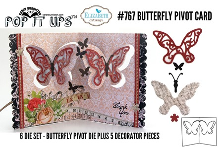 767 Butterfly Pivot Card