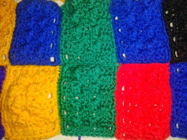 The Gingerbread Bunny: W.I.P Wednesday - Crochet Lego Blanket