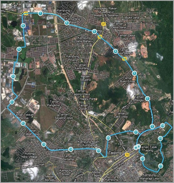 Taiping Internationa Marathon My Map