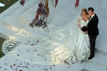 Long Celebrity Wedding Dress