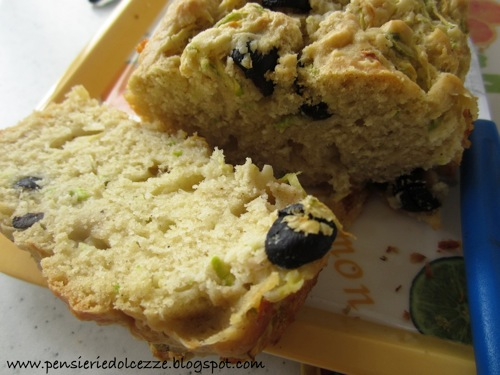 Cake salato zucchini olive e feta 6