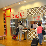 sushi takeout at the airport in Narita, Tokyo, Japan