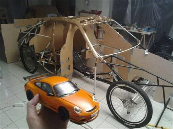 Porsche Car made from a Bicycle 17