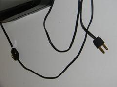 Smoked acrylic floor lamp, plug