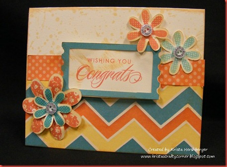 Dotty for You Congrats zigzag card