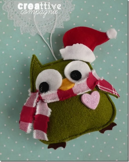 gufi civette decorazioni natalizie 2