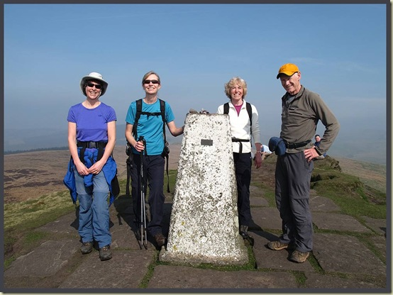 On the summit of Shutlingsloe - Sue, Jenny, Liz and Martin