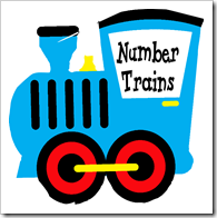 Number Trains ~ Free Printable from www.livinglifeintentionally.blogspot.com