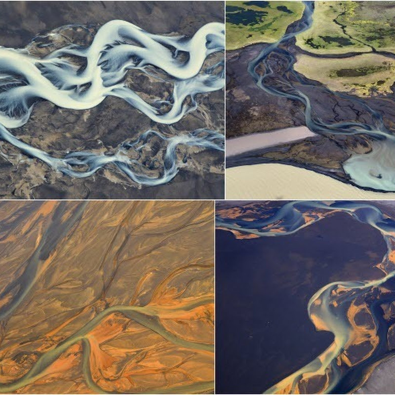 Gorgeous Aerial Photos of Icelandic Rivers by Andre Ermolaev