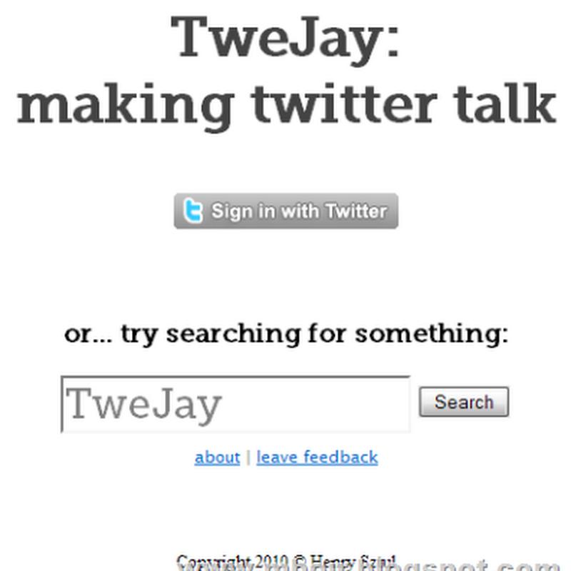 TweJay, Cara Mengubah Tweet Menjadi Suara