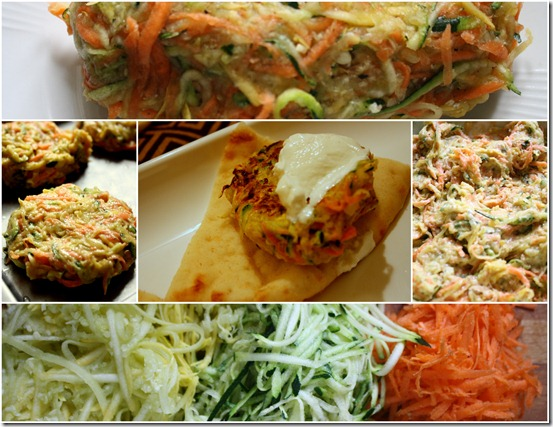 zucchini-fritters-recipe-collage-spicy
