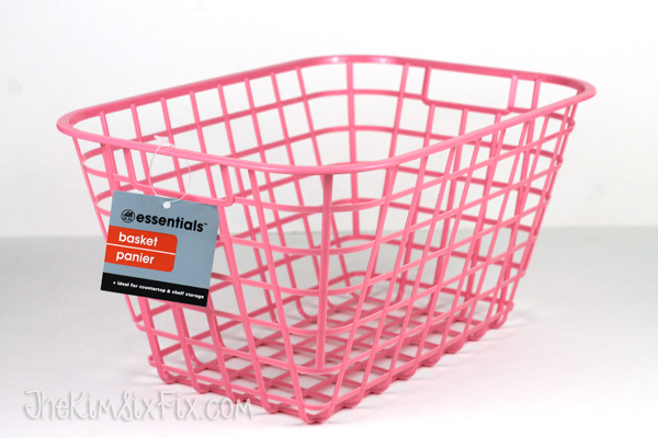 Dollar store plastic basket