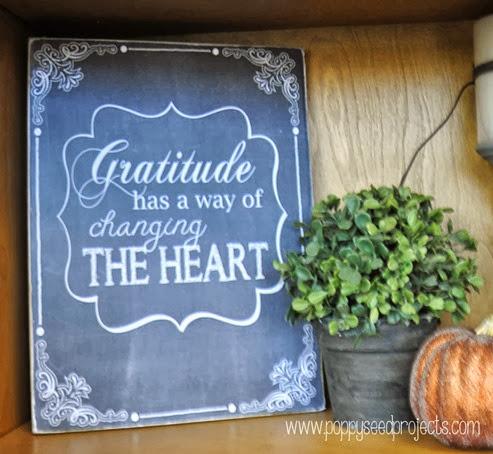 Fall Chalkboar Art - Gratitude chalkboard art
