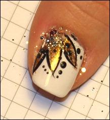 Blüten Nail Art Tutorial Glitter 3