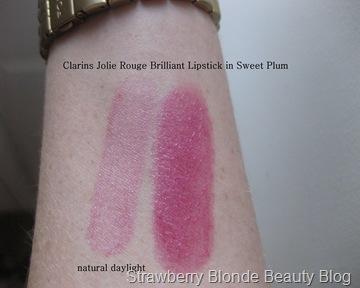 Clarins-Spring-2013-Jolie-Rouge-Brilliant-Lipstick-Sweet-Plum-swatch