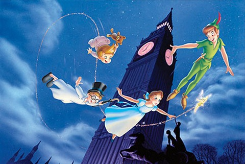 PeterPan flying with wendy