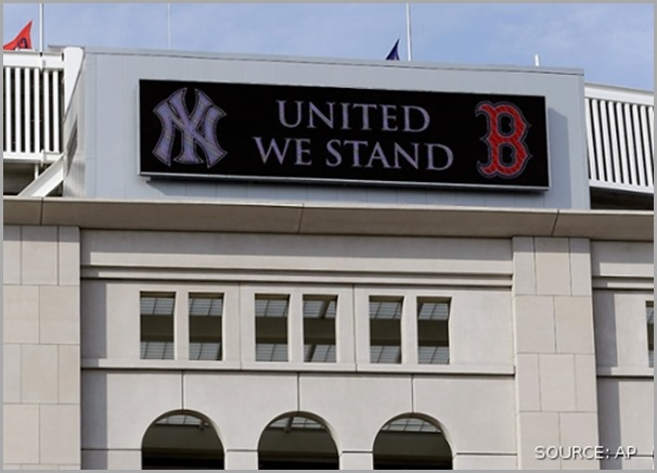 The marquee at Yankee Stadium on Tuesday April 16, 2013.