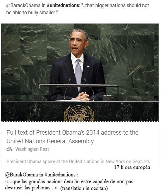 Barak Obama las grandas e pichonas nacions 2