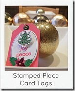 stamped place card tag