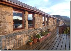 sun on the lodge