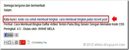 Keyword Dengan Internal Links